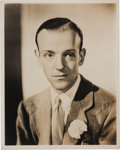 Movie/TV Memorabilia:Autographs and Signed Items, A Fred Astaire Signed Sepia Photograph, Circa 1940s....