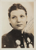 Movie/TV Memorabilia:Autographs and Signed Items, A Rita Hayworth Signed Black and White Photograph, Circa 1930s....
