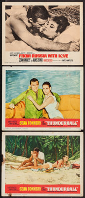 "Thunderball and Other Lot (United Artists, 1965). Lobby Cards (3) (11"" X 14""). James Bond. ... (Total: 3 Items..."