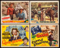 """Movie Posters:Adventure, Buster Crabbe Lobby Card Lot (PRC, 1942-1945). Title Lobby Cards(2) and Lobby Cards (2) (11"""" X 14""""). Western and Adventure....(Total: 4 Items)"""