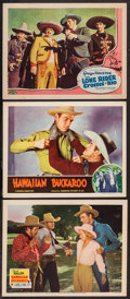 "Movie Posters:Western, Hawaiian Buckaroo and Lot (20th Century Fox, 1938). Lobby Cards (3)(11"" X 14""). Western.. ... (Total: 3 Items)"