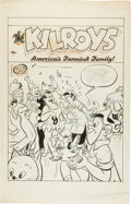 Original Comic Art:Covers, The Kilroys Unpublished Cover Original Art (ACG, c. 1950s).....