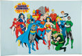Memorabilia:Poster, Super Powers Poster (DC/Portal Publications, 1978)....