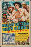 "Movie Posters:Serial, Roar of the Iron Horse (Columbia, 1951). One Sheet (27"" X 41"")Chapter 11 -- ""Redskins' Revenge!"" Serial.. ..."