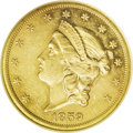 Proof Liberty Double Eagles: , 1859 $20 PR58 NGC. A fledgling community of numismatists in thiscountry prompted the United States Mint in Philadelphia to...