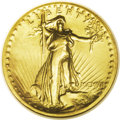 High Relief Double Eagles: , 1907 $20 High Relief--Cleaned--ANACS. AU55 Details. Liberty's chest and raised knee show minor wear, and the olive-gold fie...
