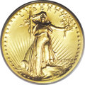 High Relief Double Eagles: , 1907 $20 High Relief, Flat Rim MS64 PCGS. Not widely recognized (or understood) until recent years, Flat Rim High Reliefs a...