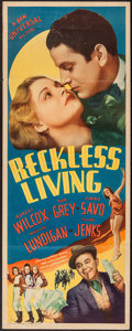 """Movie Posters:Musical, Reckless Living (Universal, 1938). Insert (14"""" X 36""""). Musical....."""