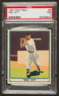 Baseball Cards:Singles (1940-1949), 1941 Play Ball Mel Ott #8 PSA NM 7....