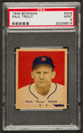Baseball Cards:Singles (1940-1949), 1949 Bowman Paul Trout #208 PSA Mint 9 - Pop Seven, None Higher! ...