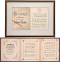Movie/TV Memorabilia:Memorabilia, An Edgar G. Ulmer Set of Framed Sheet Music, Circa 1920s....(Total: 2 )