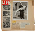 Movie/TV Memorabilia:Documents, A Bud Westmore Personally-Owned Scrapbook, 1940s-1950s....