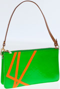Luxury Accessories:Bags, Louis Vuitton Limited Edition by Robert Wilson Monogram Lime GreenVernis Leather Pochette. ...
