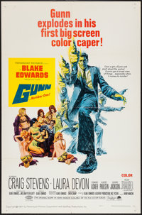 "Gunn and Other Lot (Paramount, 1967). One Sheets (2) (27"" X 41"") and Mini Lobby Cards (3) (8"" X 10"")..."