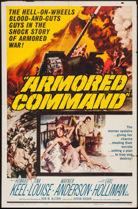 "Armored Command (Allied Artists, 1961). One Sheet (27"" X 41"") and Lobby Cards (14) (11"" X 14""). War..."
