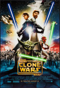 "Movie Posters:Animation, Star Wars: Clone Wars (Warner Brothers, 2008). One Sheet (27"" X 40"") DS Advance. Animation.. ..."