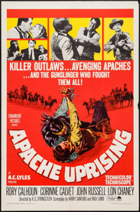 """Apache Uprising & Others Lot (Paramount, 1966). One Sheets (3) (27"""" X 41""""). Western. ... (Total: 3 Ite..."""