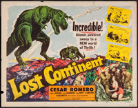 "Lost Continent (Lippert, 1951). Half Sheet (22"" X 28"") ""See"" Style. Science Fiction"