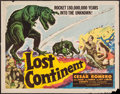 """Movie Posters:Science Fiction, Lost Continent (Lippert, 1951). Half Sheet (22"""" X 28""""). ScienceFiction.. ..."""