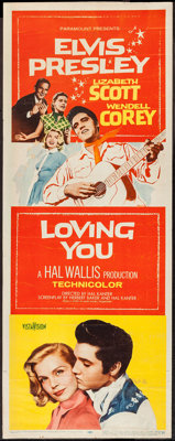 "Loving You (Paramount, 1957). Insert (14"" X 36""). Elvis Presley"