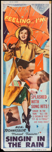 """Movie Posters:Musical, Singin' in the Rain (MGM, 1952). Door Panel (20"""" X 60"""") No. 4.Musical.. ..."""