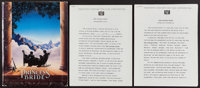 """The Princess Bride (20th Century Fox, 1987). Press Kit. Production Notes (Multiple Pages, 8.5"""" X 11"""") &amp..."""