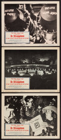 "Movie Posters:Comedy, Dr. Strangelove or: How I Learned to Stop Worrying and Love theBomb (Columbia, 1964). Lobby Cards (3) (11"" X 14""). Comedy....(Total: 3 Items)"