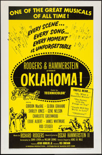 "Oklahoma! and Other Lot (RKO, 1955). One Sheet (27"" X 41""), Lobby Cards (11) (11"" X 14""), and Uncut..."