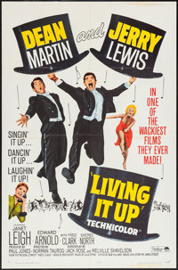 "Living It Up (Paramount, R-1965). One Sheets (6) (27"" X 41"") and Pressbook (12.25"" X 15"", 10 Pages)..."