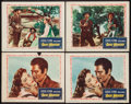 "Movie Posters:Western, Rocky Mountain (Warner Brothers, 1950). Lobby Cards (4) (11"" X 14""). Western.. ... (Total: 4 Items)"