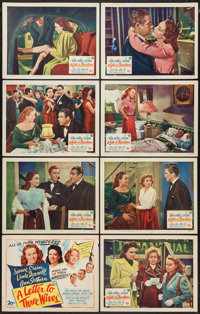 """A Letter to Three Wives (20th Century Fox, 1949). Lobby Card Set of 8 (11"""" X 14""""). Drama. ... (Total: 8 Items)"""