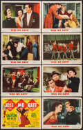 """Movie Posters:Musical, Kiss Me Kate (MGM, 1953). Lobby Card Set of 8 (11"""" X 14"""").Musical.. ... (Total: 8 Items)"""