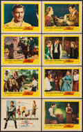 "Movie Posters:Western, The King and Four Queens (United Artists, 1957). Lobby Card Set of8 (11"" X 14""). Western.. ... (Total: 8 Items)"