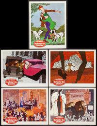 "101 Dalmatians (Buena Vista, 1961). Lobby Cards (5) (11"" X 14""), Cut Pressbook (Multiple pages) (12' X 18""..."