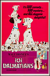 "101 Dalmatians (Buena Vista, R-1969 and R-1972). One Sheet (27"" X 41"") and Half Sheet (22"" X 28""). A..."