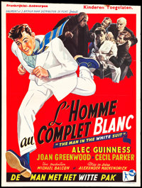 """The Man in the White Suit (Ealing, 1951). Belgian (14"""" X 18.75""""). Comedy"""