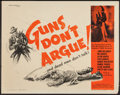 "Movie Posters:Crime, Guns Don't Argue and Others Lot (Columbia, 1957). Half Sheets (11)(22"" X 28""). Crime.. ... (Total: 11 Items)"