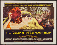 """The Rains of Ranchipur and Other Lana Turner Films (20th Century Fox, 1955). Half Sheets (4) (22"""" X 28""""). Dram..."""