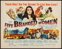 """Five Branded Women and Others Lot (Paramount, 1960). Half Sheets (3) (22"""" X 28""""). War. ... (Total: 3 Items)"""