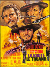 """The Good, the Bad and the Ugly (United Artists, R-1975). French Grande (46"""" X 61""""). Western"""