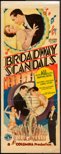 "Movie Posters:Musical, Broadway Scandals (Columbia, 1929). Insert (14"" X 36""). Musical....."
