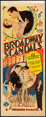 "Broadway Scandals (Columbia, 1929). Insert (14"" X 36""). Musical"