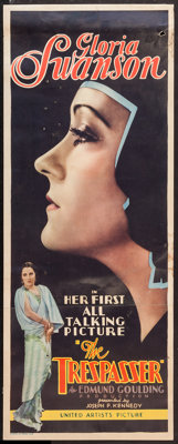 "The Trespasser (United Artists, 1929). Insert (14"" X 36""). Drama"
