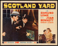"Movie Posters:Crime, Scotland Yard (20th Century Fox, 1930). Half Sheet (22"" X 28"").Crime.. ..."