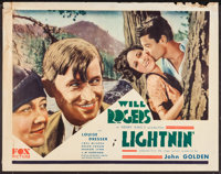 "Lightnin' (Fox, 1930). Half Sheet (22"" X 28""). Comedy"