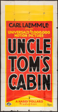 "Movie Posters:Drama, Uncle Tom's Cabin (Universal, 1927). Three Sheet (41"" X 81"").Drama.. ..."