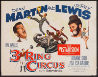 "3 Ring Circus (Paramount, 1954). Half Sheets (2) (22"" X 28"") Styles A and B. Comedy. ... (Total: 2 Items)"