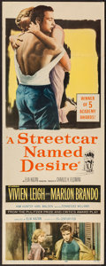 "Movie Posters:Drama, A Streetcar Named Desire (20th Century Fox, R-1958). Insert (14"" X36""). Drama.. ..."