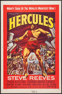"Hercules (Embassy, 1959). One Sheet (27"" X 41""). Action"