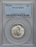 Standing Liberty Quarters: , 1924-D 25C MS64 PCGS. PCGS Population (572/583). NGC Census:(305/712). Mintage: 3,112,000. Numismedia Wsl. Price for probl...